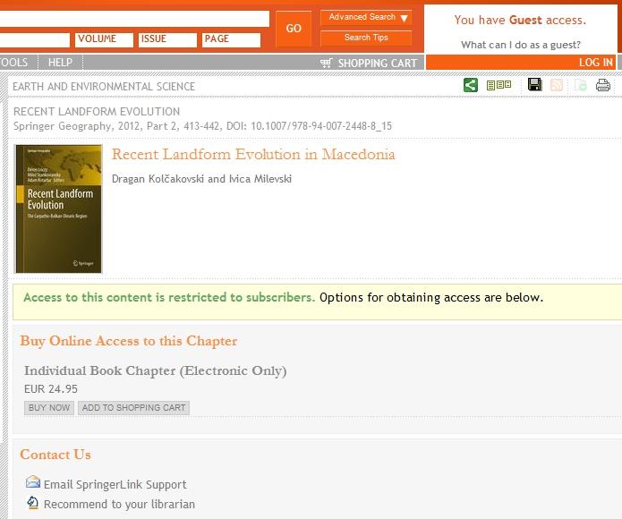 Публикувана Карпато-Балканско-Динарска геоморфолошка монографија со поглавје за Македонија!