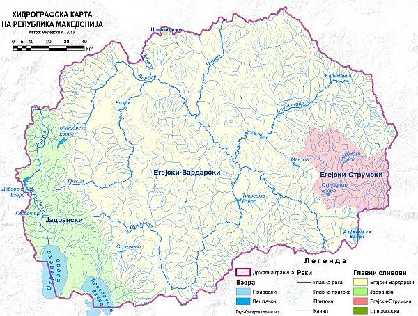 Колкава површина од Република Македонија припаѓа на сливот на Дунав?