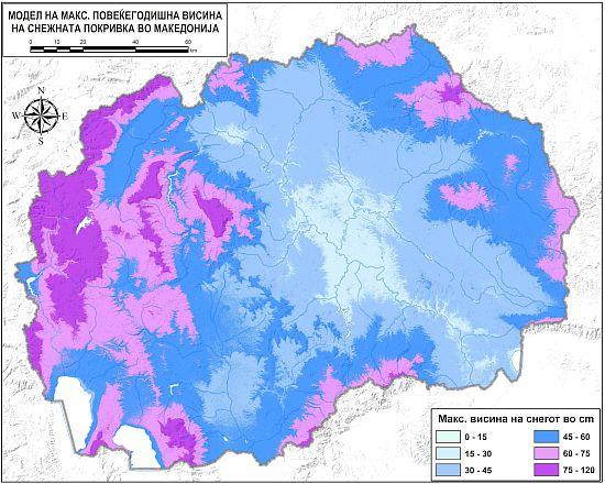 Изработени модели на просечно траење, максимална и просечна височина на снежната покривка во Македонија!