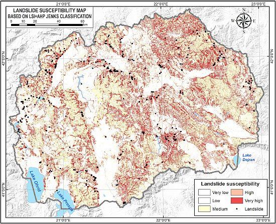 Во познато меѓународно списание објавен труд за зонирање на теренот според подложност на свлечишта во Македонија!