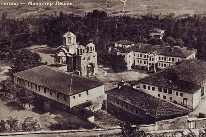 За сардисаниот Лешечки манастир во 1905 година