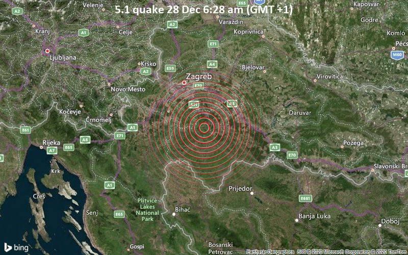 Податоци за катастрофалниот земјотрес во Петриња – Хрватска